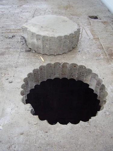 Сверление отверстия большого диаметра