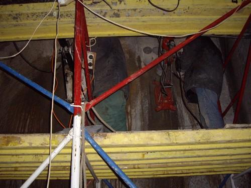 Сверление бетона керносверлильной машиной